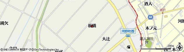 愛知県安城市安城町(板橋)周辺の地図