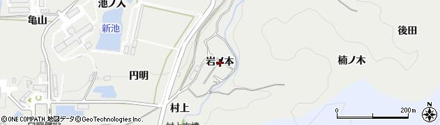 愛知県岡崎市丸山町(岩ノ本)周辺の地図