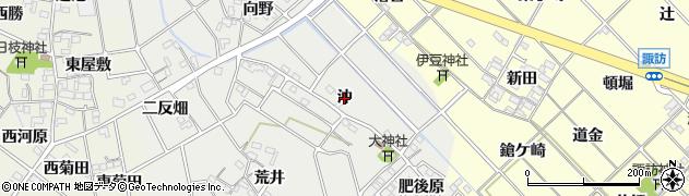 愛知県岡崎市東牧内町(沖)周辺の地図