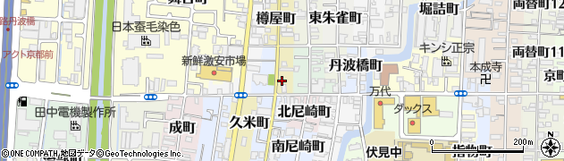 京都府京都市伏見区海老屋町周辺の地図