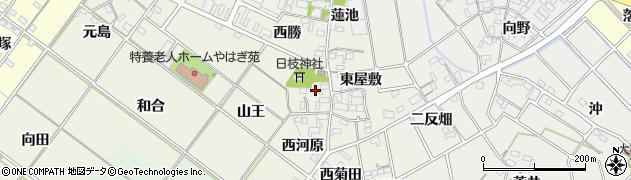 愛知県岡崎市上佐々木町(西屋敷)周辺の地図