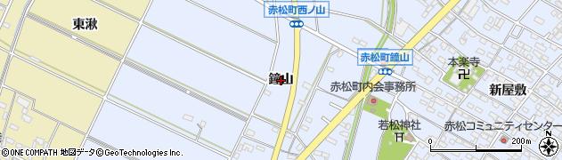 愛知県安城市赤松町(鐘山)周辺の地図