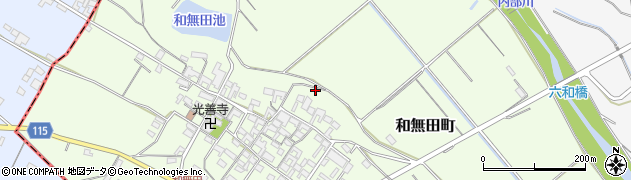 三重県四日市市和無田町周辺の地図