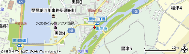 滋賀県大津市黒津周辺の地図