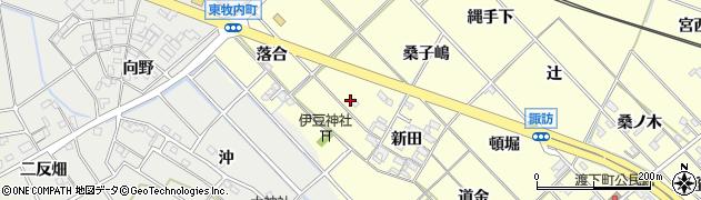 愛知県岡崎市渡町(新田西)周辺の地図