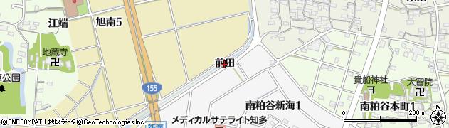 愛知県知多市金沢(前田)周辺の地図