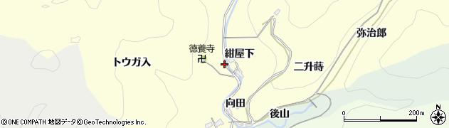 愛知県岡崎市蓬生町(日向田)周辺の地図