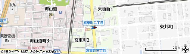 三重県四日市市宮東町周辺の地図