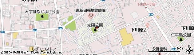 静岡県静岡市駿河区光陽町周辺の地図