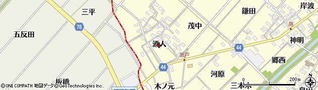 愛知県岡崎市島坂町(酒人)周辺の地図