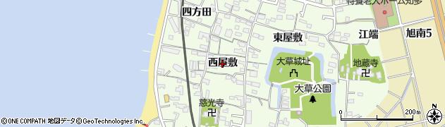 愛知県知多市大草(西屋敷)周辺の地図