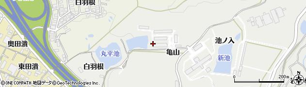 愛知県岡崎市丸山町(奥白羽根)周辺の地図