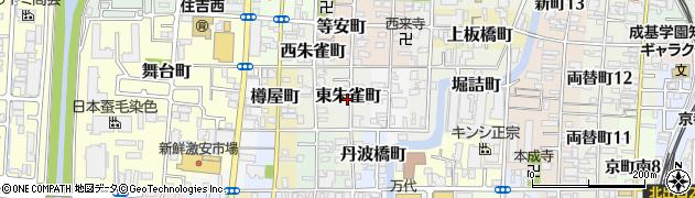 京都府京都市伏見区東朱雀町周辺の地図