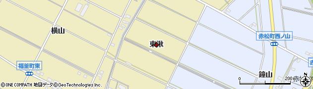 愛知県安城市福釜町(東湫)周辺の地図