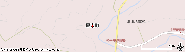 愛知県岡崎市夏山町周辺の地図