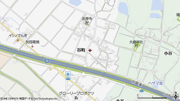 〒675-2361 兵庫県加西市谷町の地図