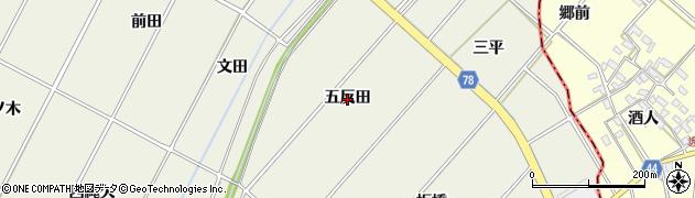 愛知県安城市安城町(五反田)周辺の地図