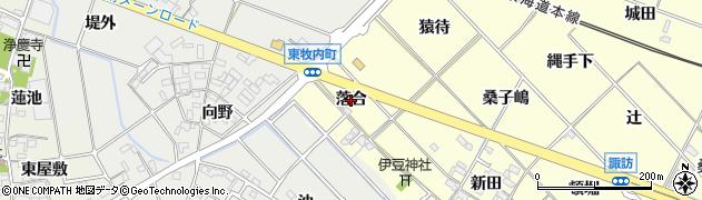 愛知県岡崎市渡町(落合)周辺の地図
