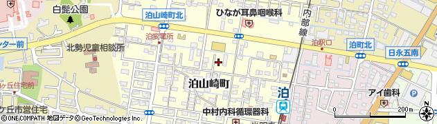 三重県四日市市泊山崎町周辺の地図