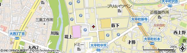 愛知県岡崎市大平町(八ツ幡)周辺の地図