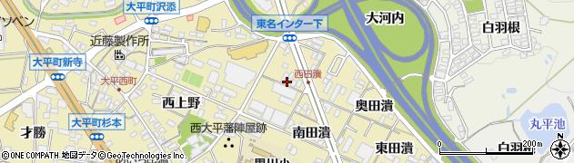 愛知県岡崎市大平町(東上野)周辺の地図