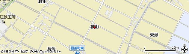 愛知県安城市福釜町(横山)周辺の地図