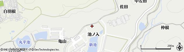 愛知県岡崎市丸山町(池ノ入)周辺の地図