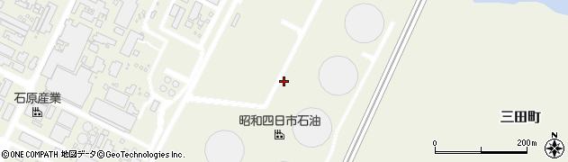 三重県四日市市三田町周辺の地図