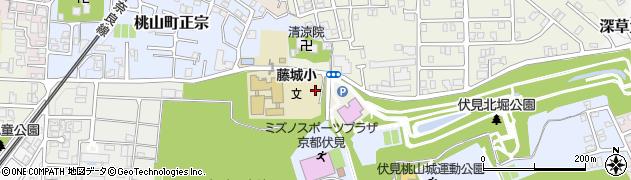 京都府京都市伏見区深草大亀谷五郎太町周辺の地図