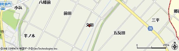 愛知県安城市安城町(文田)周辺の地図