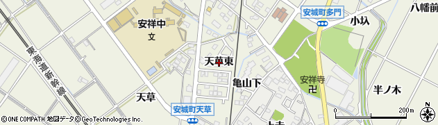愛知県安城市安城町(天草東)周辺の地図