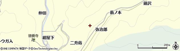 愛知県岡崎市蓬生町(弥治郎)周辺の地図