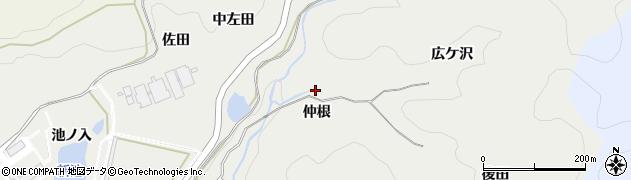 愛知県岡崎市丸山町(仲根)周辺の地図