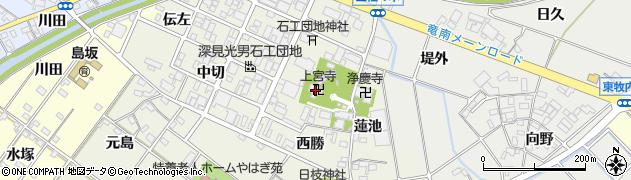 上宮寺周辺の地図