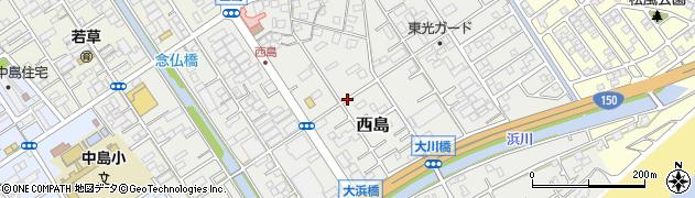 静岡県静岡市駿河区西島周辺の地図