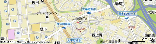 愛知県岡崎市大平町(建石)周辺の地図