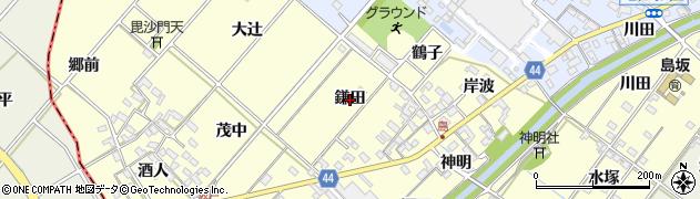 愛知県岡崎市島坂町(鎌田)周辺の地図