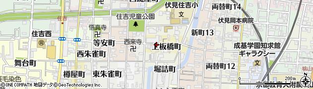 京都府京都市伏見区上板橋町周辺の地図