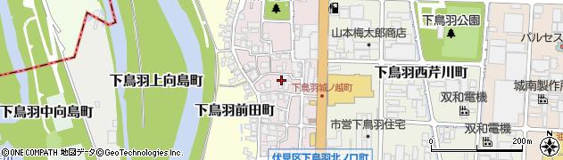 京都府京都市伏見区下鳥羽城ノ越町周辺の地図