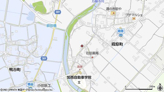 〒675-2445 兵庫県加西市殿原町の地図