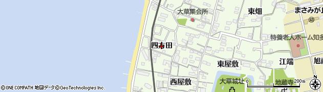 愛知県知多市大草(四方田)周辺の地図