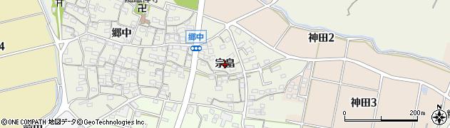愛知県知多市金沢(宗畠)周辺の地図