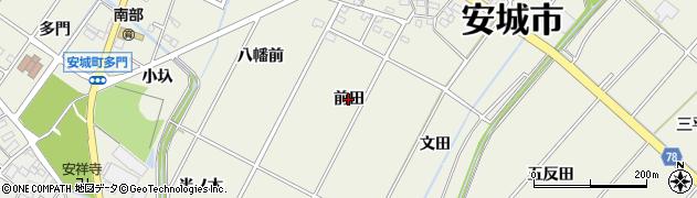 愛知県安城市安城町(前田)周辺の地図