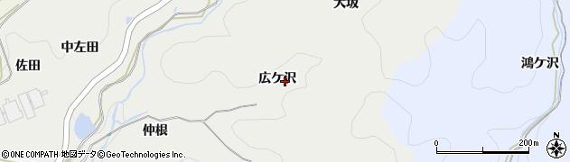 愛知県岡崎市丸山町(広ケ沢)周辺の地図