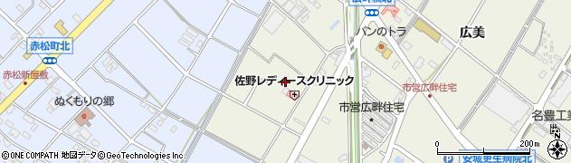 愛知県安城市安城町(西広畔)周辺の地図