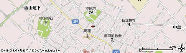 愛知県安城市高棚町(郷)周辺の地図