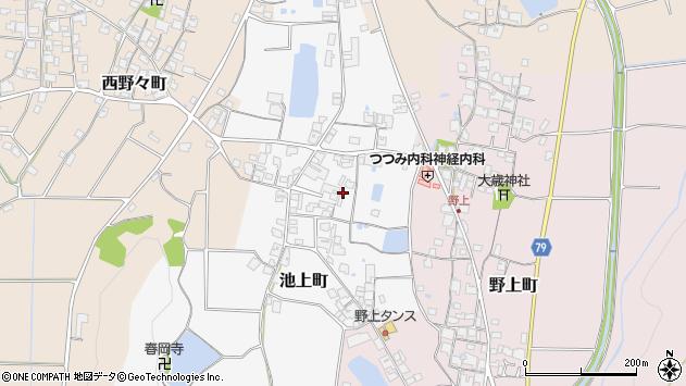〒675-2425 兵庫県加西市池上町の地図