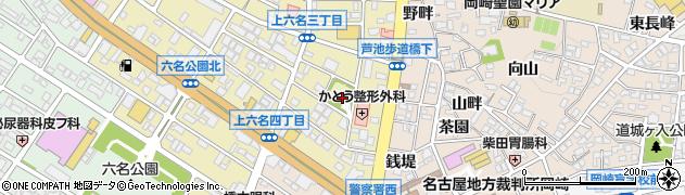 愛知県岡崎市南明大寺町周辺の地図