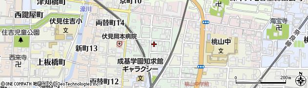 京都府京都市伏見区桃山水野左近西町周辺の地図