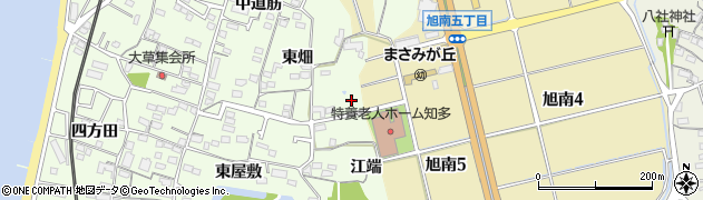 愛知県知多市大草(ヒシケ)周辺の地図